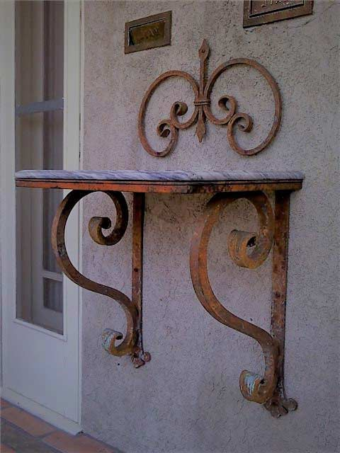 Heavy Duty Wrought Iron Bracket Thick Large Shoreline