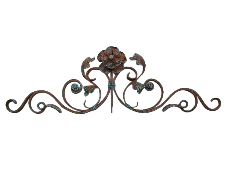 Flower Iron Wall Decor | Shoreline Ornamental Iron