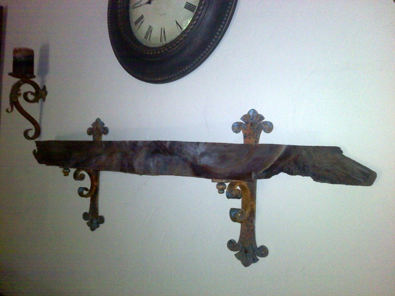 Iron Mantel Bracket Large Shoreline Ornamental Iron