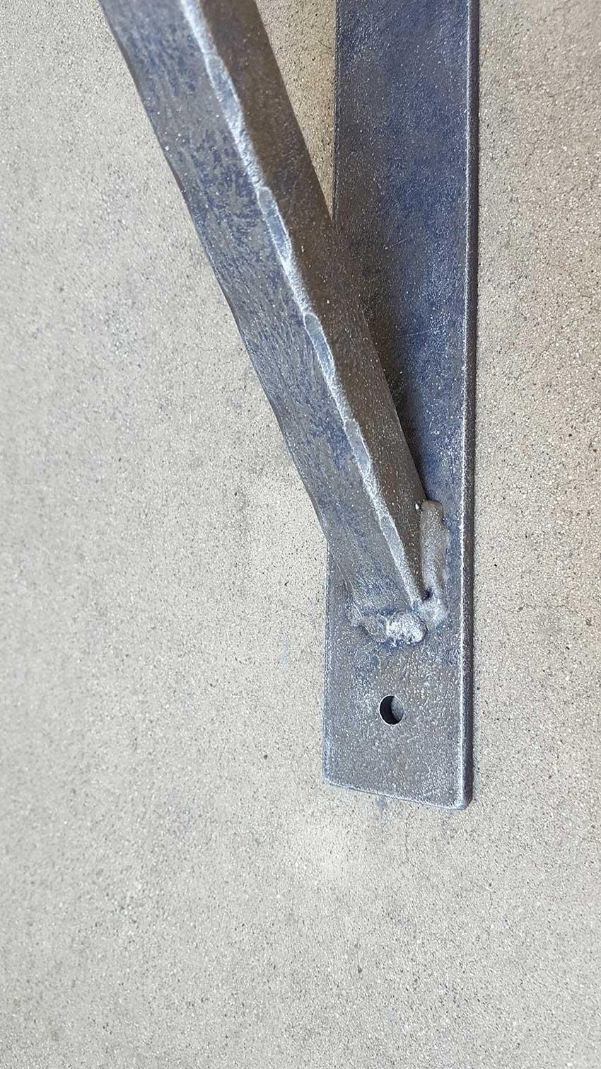 Large Straight Bar Iron Angle Bracket Shoreline