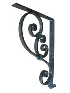 Large Decorative Heavy Duty Bracket with Blue/Green Patina Finish by Shoreline Ornamental Iron
