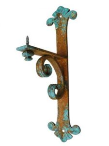 Small Shelf/Mantel Bracket with Iron Patina Finish by Shoreline Ornamental Iron