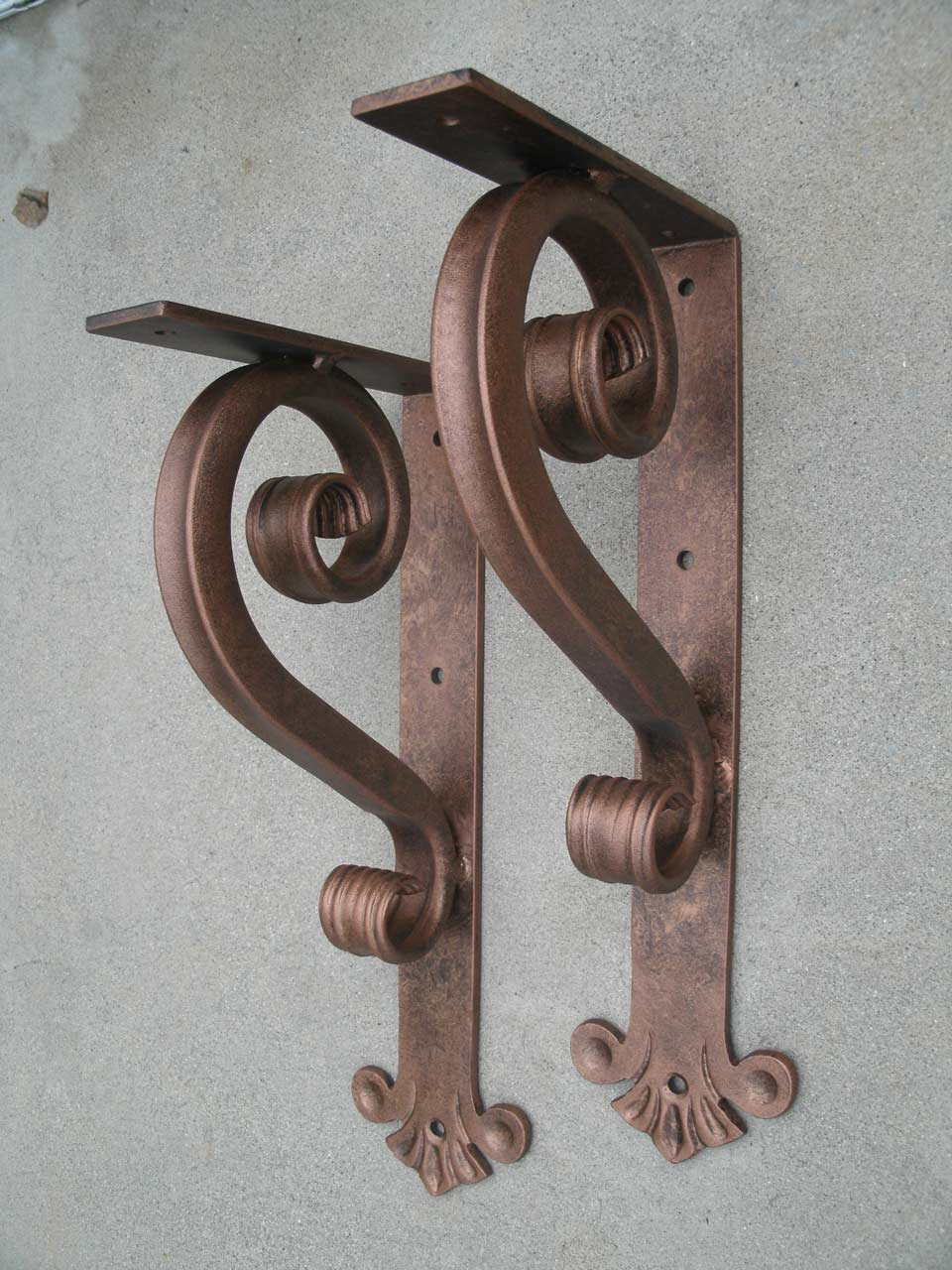 Heavy Duty Mantel Bracket Shoreline Ornamental Iron