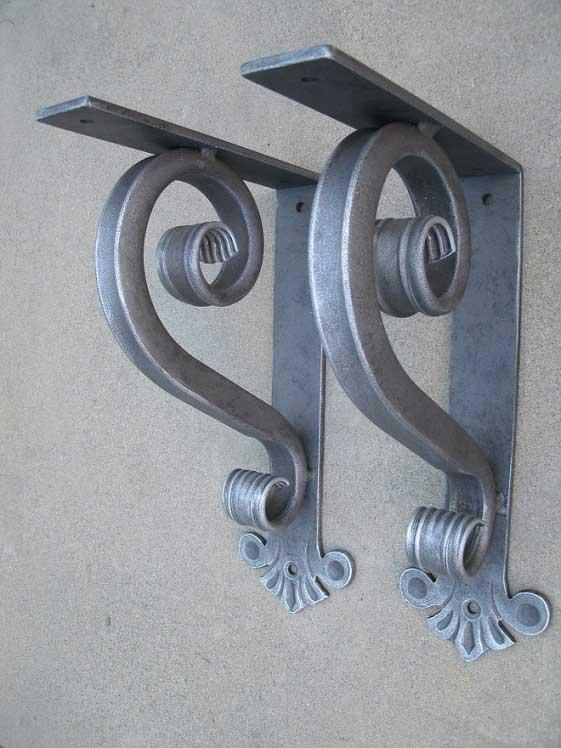 Iron Bracket Thick Small Heavy Duty Shoreline Ornamental