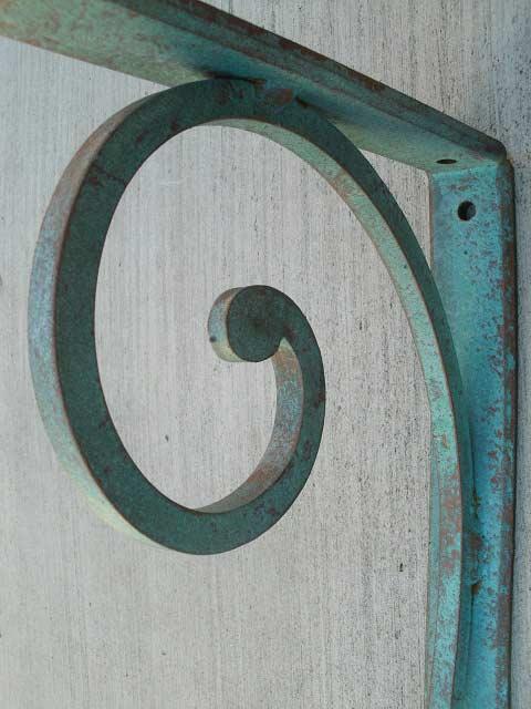 Wrought Iron Angle Bracket Medium Shoreline Ornamental Iron