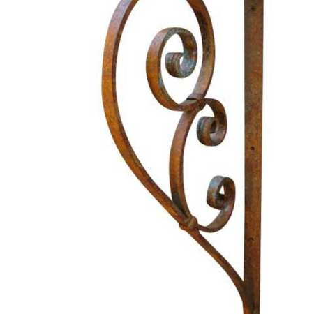 large wrought iron bracket