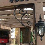 large wrought iron bracket