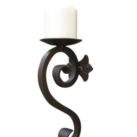 Iron Candle Sconce-SD-CH-350 by Shoreline Ornamental Iron