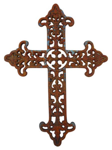 Cast Iron Wall Decor Cross Shoreline Ornamental Iron