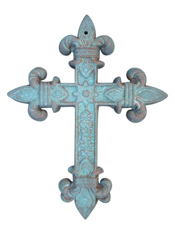 Cast Iron Cross Wall Decor Shoreline Ornamental Iron