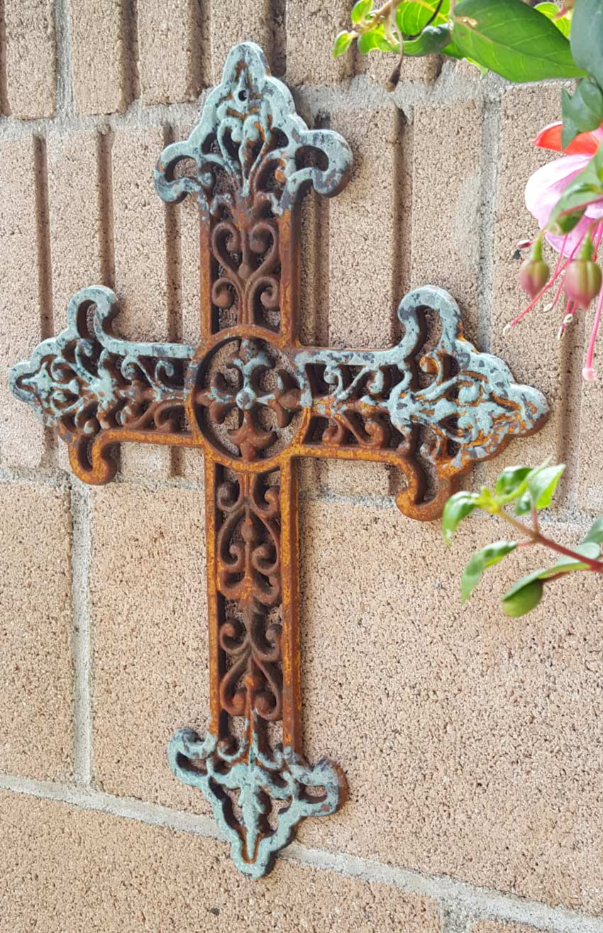 Cast Iron Wall Decor Cross | Shoreline Ornamental Iron