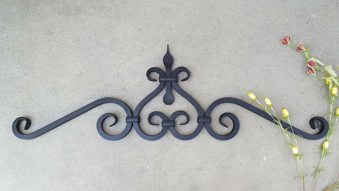 Large Decorative Iron Wall Decor Shoreline Ornamental Iron