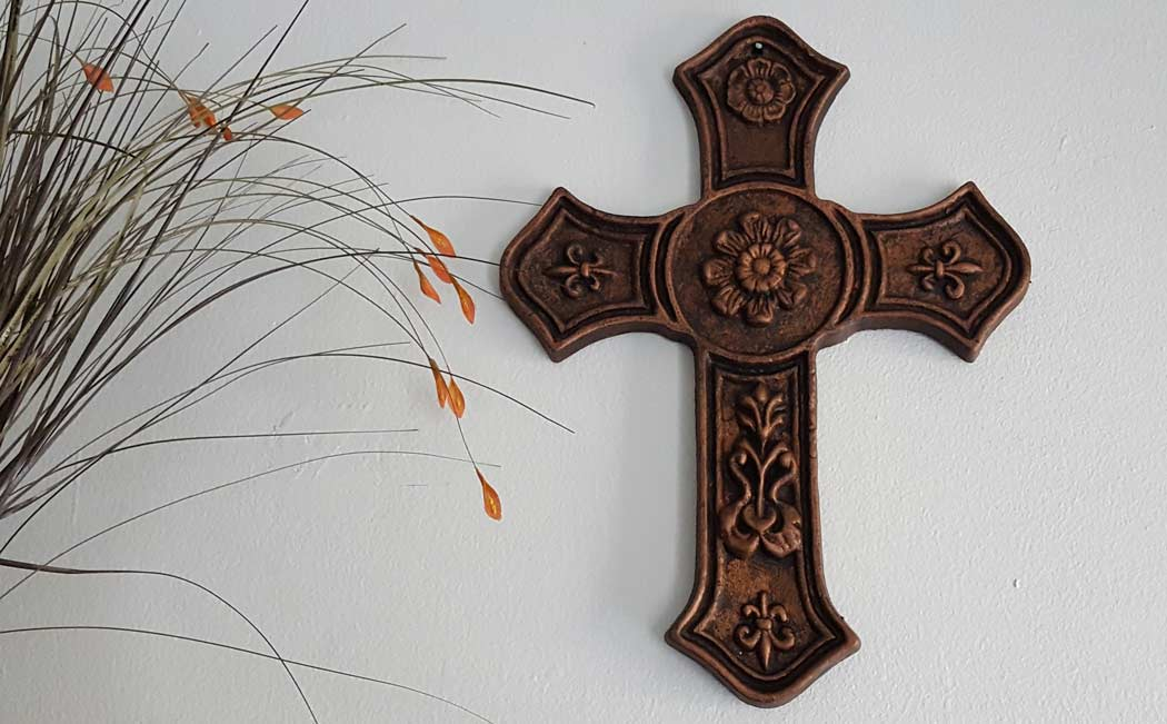 Wall Decor Cross-Cast Iron | Shoreline Ornamental Iron