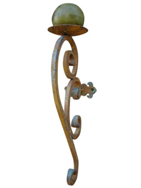 Large Wrought Iron Candle Sconce On Sale