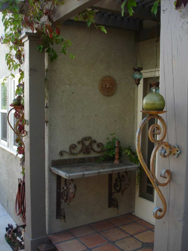 Large Pair of Wrought Iron Candle Sconce On Sale ... on Wrought Iron Outdoor Candle Sconces id=53416