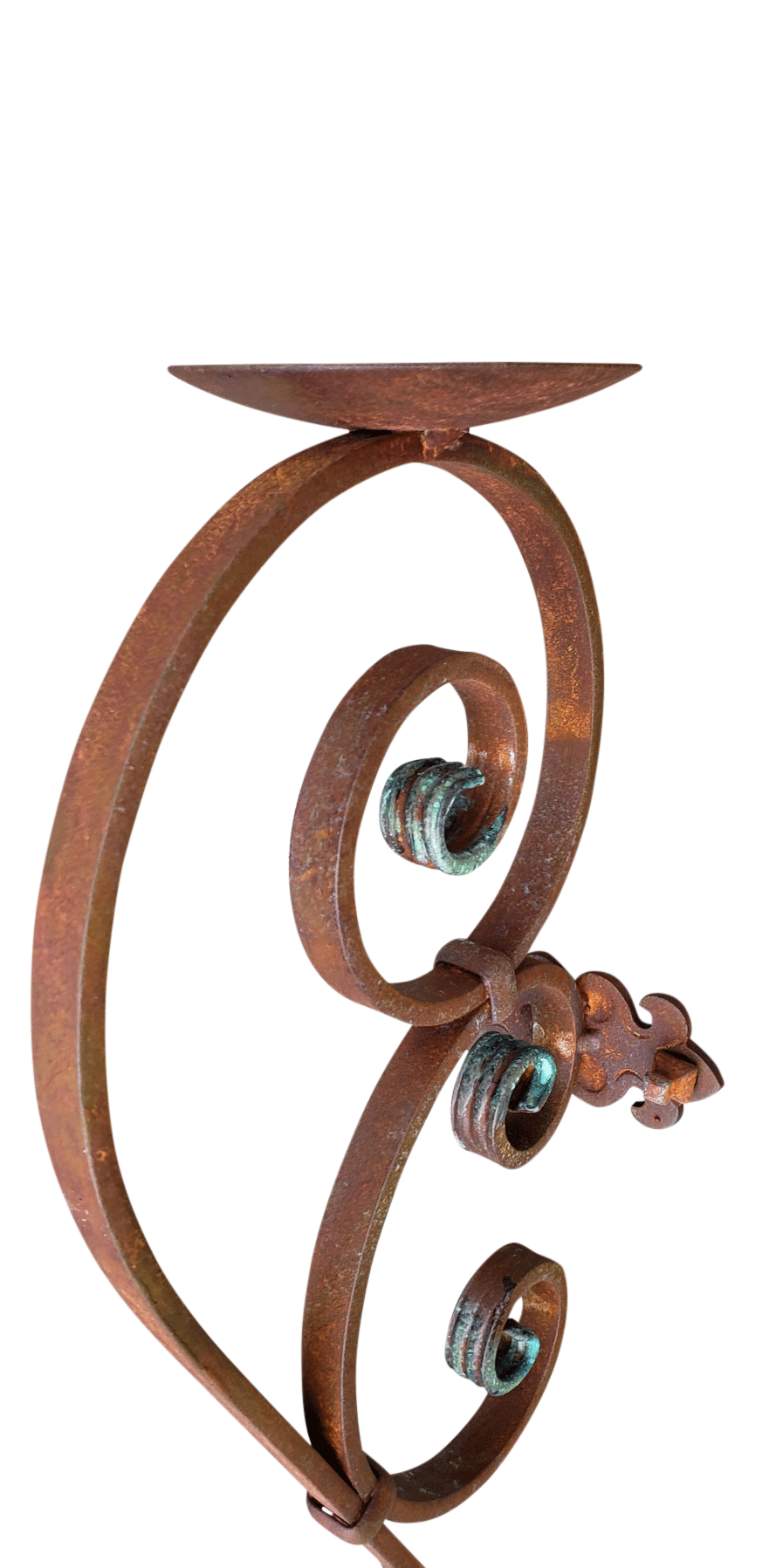 Large Rustic Candle Sconce-Perfect Wrought Iron Wall ...