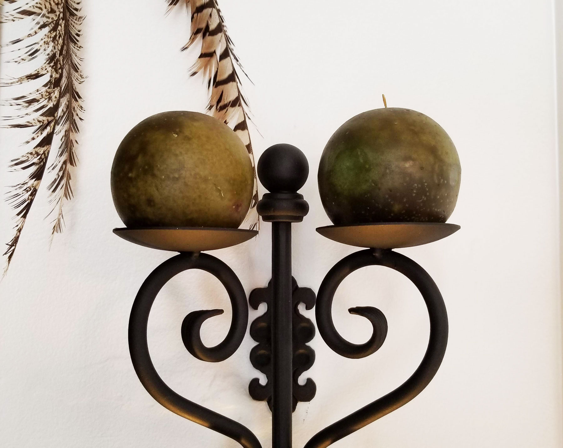 Wrought Iron Wall Sconce-Unique Craftsmanship in Handmade ... on Wrought Iron Outdoor Candle Sconces id=25490
