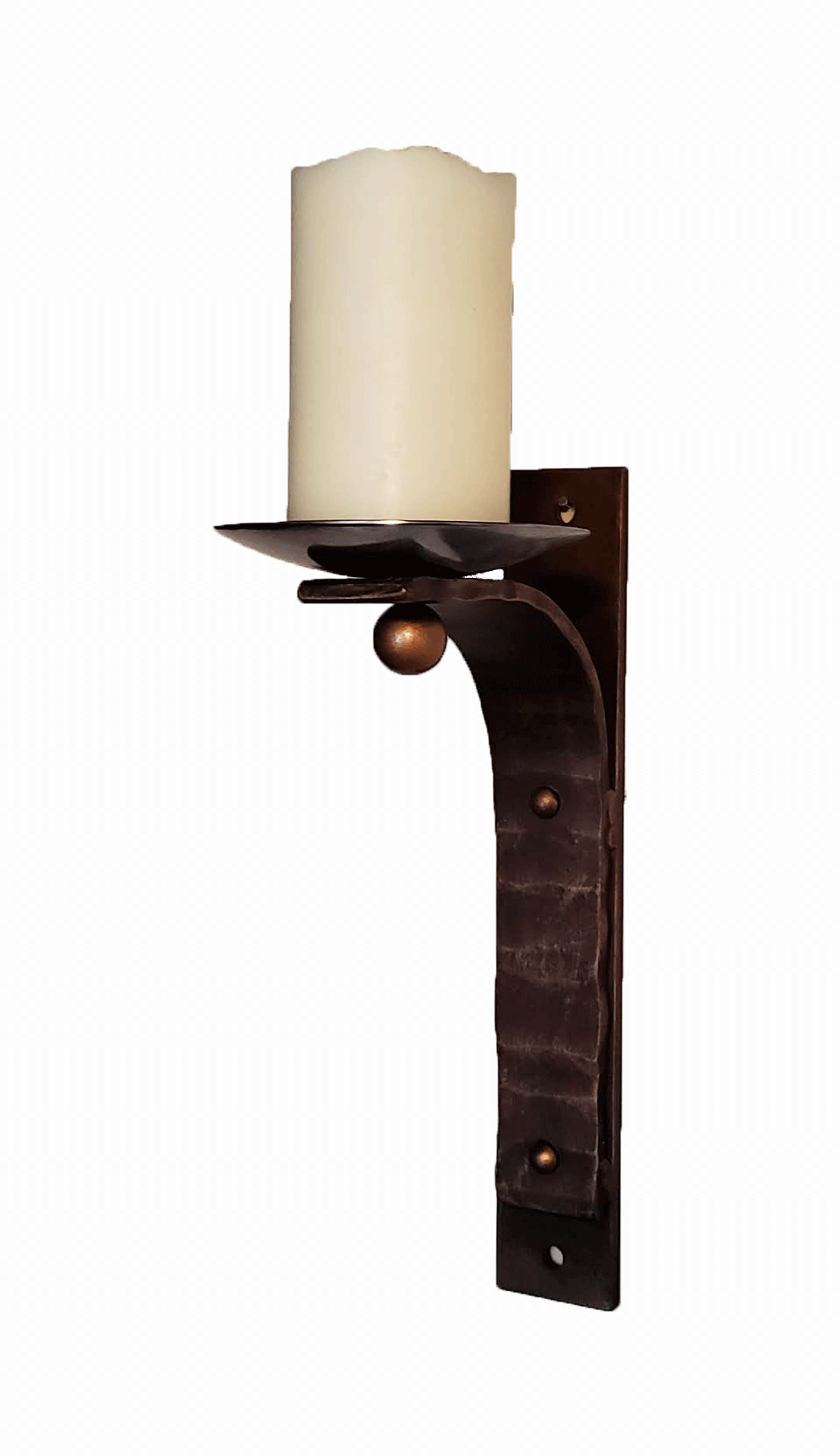 Stunning Wrought Iron Wall Candle Sconce-Handcrafted ... on Iron Wall Sconces For Candles id=65960