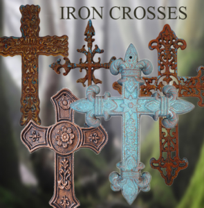 cast iron wall crosses