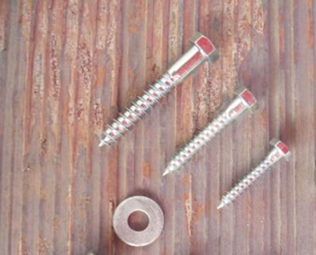lag screws and washer for iron bracket