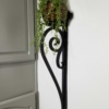 large decorative iron candle holder