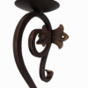 large decorative iron candle holder