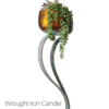 wrought iron wall candle sconce/plant holder